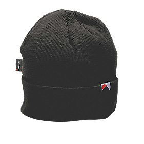 "Knitted Beanie Hat Black "" Chest"