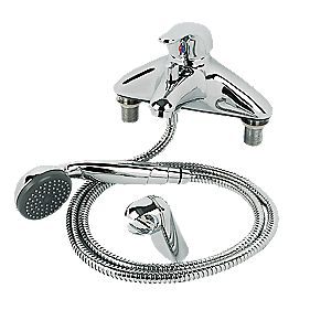 Swirl Single Lever Bath/Shower Mixer Tap Chrome