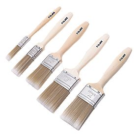 T-Class Synthetic Bristle Paintbrushes 5 Piece Set
