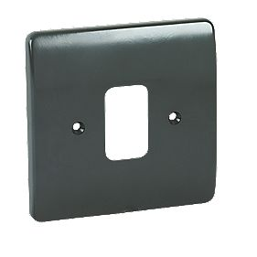 MK Logic Plus 1-Gang Moulded Front Plate Graphite