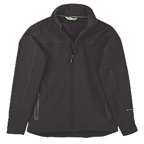 "Work It Scafell Soft Shell Jacket Black Medium 40-42"" Chest"