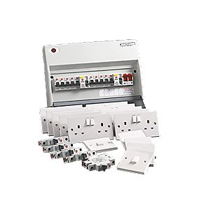 Wylex 10-Way Fully Insulated Dual RCD Consumer Unit