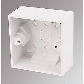 Marbo 1-Gang Surface Pattress Box White 47mm