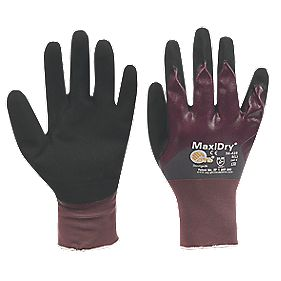 ATG MaxiDry MaxiDry ¾ Dipped Gloves Purple Large