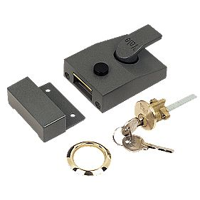 Yale 630089001702 Night Latch Grey 60mm Backset