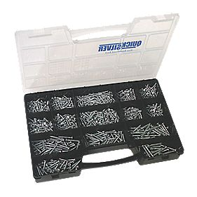 Quicksilver Round Head Selection Pack Zinc-Plated 1000Pieces