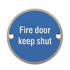 Fire Door Keep Shut Sign 76mm