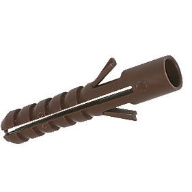 Fischer Plastic Wall Plugs Brown 4.5-6mm Pack of 300