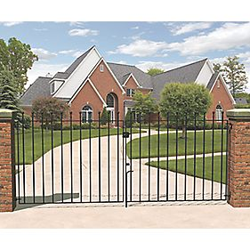 Metpost Wenlock Double Gate Black 1125 x 900mm