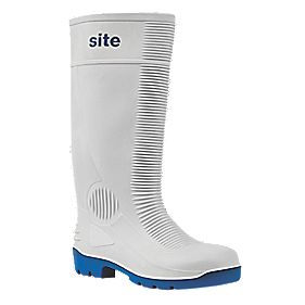 Site Trench Safety Wellington Boots White Size 8