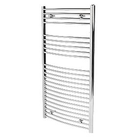 Flomasta Curved Chrome Towel Rail 1100mm x 600mm