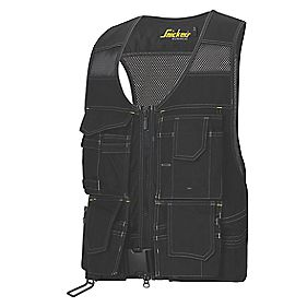 "Snickers Flexi Toolvest Black Large 44"" Chest"