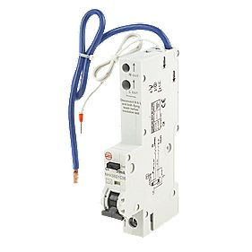 Wylex 6A 30mA Single Pole Type C Curve RCBO