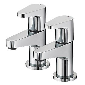 Bristan Quest Bathroom Basin Taps Pair