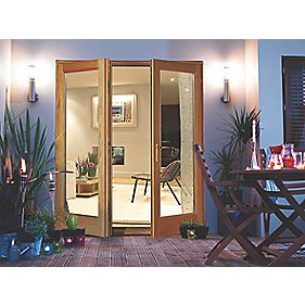 Jeld-Wen Rio 1-Light Glazed Hardwood French Door Unfinished 1790 x 2090mm