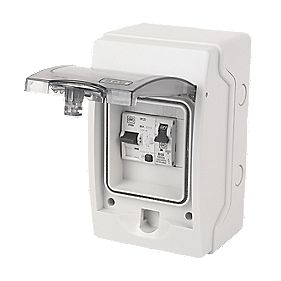 MK Sentry 4-Way RCD Shower Consumer Unit