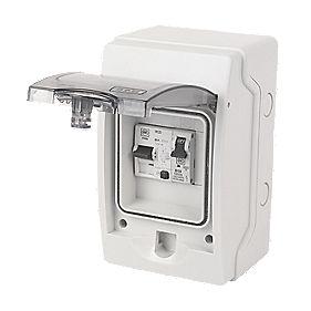 MK Sentry 4-Way RCD Shower Consumer Unit
