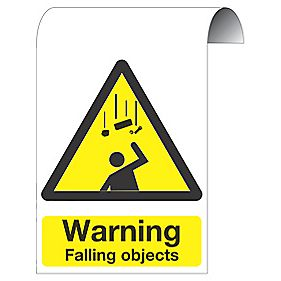 """Warning Falling Objects"" Scaffold Sign 500 x 300mm"