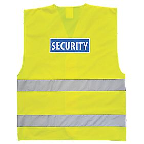 "Hi-Vis Security Waistcoat Yellow Small / Medium 36-41"" Chest"