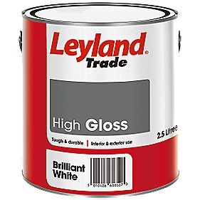 Leyland Gloss Paint Brilliant White 2.5Ltr