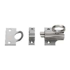 Carlisle Brass Sprung Fanlight Catch Satin Chrome 45 x 55mm