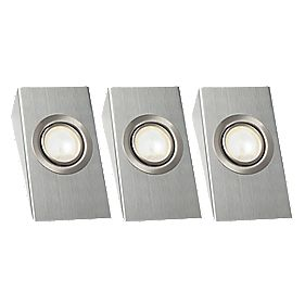 LAP Wedge Downlight Kit Brushed Chrome 20W Pack of 3