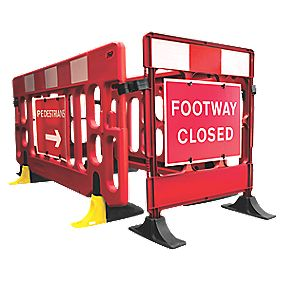 JSP Footway Closure Barrier 1000 x 840mm