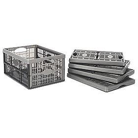 Folding Storage Crate 32Ltr 475 x 350 x 236mm