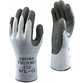Showa Best 451 General Handling Thermal Grip Gloves Blue Medium