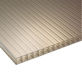 Corotherm Fivewall Polycarbonate Sheet Bronze 980 x 25 x 2500mm