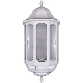 ASD 60W White Slave Half Lantern Wall Light PIR Included