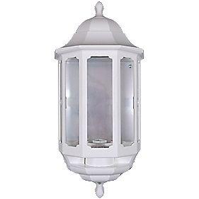 ASD 60W White Master Half Lantern Wall Light PIR Included