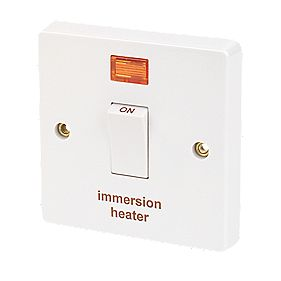 crabtree 20a 1g immersion heater switch neon white. Black Bedroom Furniture Sets. Home Design Ideas