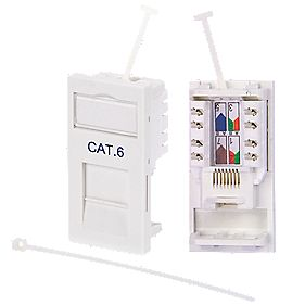 Philex Cat 6 RJ45 Outlet Module White