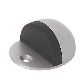 Oval Door Stop Satin Anodised Aluminium Pack of 2
