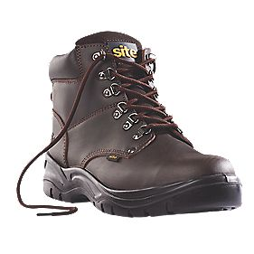 Site Stone Hiker Safety Boots Brown Size 7