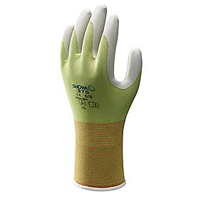 Showa Best 370 Floreo Landscaping & Gardening Nitrile Gloves Green Medium