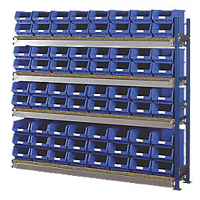 Toprax Longspan Extension Bay 72 x TC4 Blue Containers 1780 x 328 x 1500mm