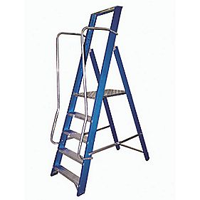 Lyte Widestep Fibreglass Platform Step Ladder 5-Tread 2.05m