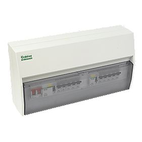Crabtree 13-Way Fully Insulated Dual RCD Consumer Unit