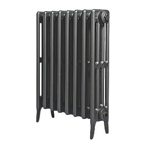 Cast Iron 660 Designer Radiator 4-Column Anthracite H: 660 x W: 521mm