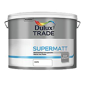 Dulux Trade Supermatt Emulsion Paint White 10Ltr