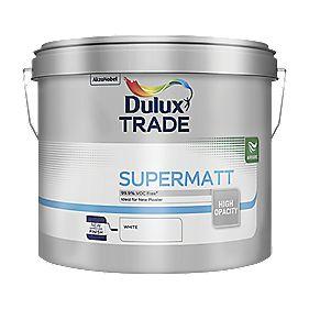 B and Q Trade Supermatt Emulsion Paint White 10Ltr