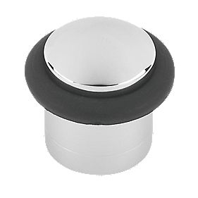 Cylinder Door Stop Polished Chrome