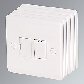 LAP 13A Switched Fused Connection Unit White Pack of 5