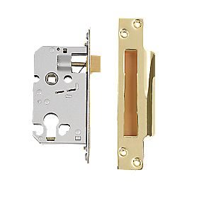 "Securefast Euro Cylinder Sashlock Polished Brass 2½"" (64mm) Backset"