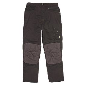 "Site Boxer Workwear Trousers Black/Grey 40"" W 32"" L"