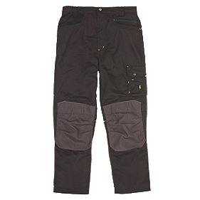 "Site Boxer Workwear Trousers Black/Grey 40"" W 32"" L"