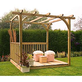 Forest Larchlap Ultima Pergola & Patio Deck Kit 2.4 x 2.4 x 2.4m