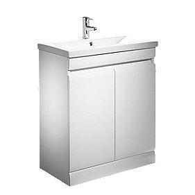 Tavistock Groove Freestanding Bathroom Basin Unit White 690mm